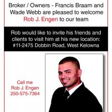 Welcome to the team Rob