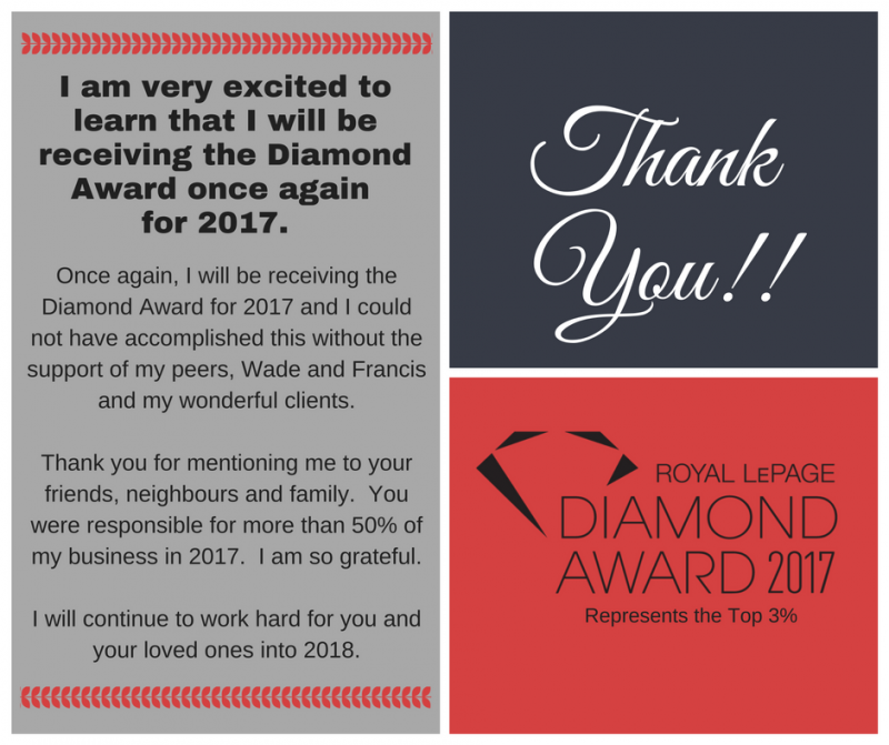 Diamond Award Thank You- Amy